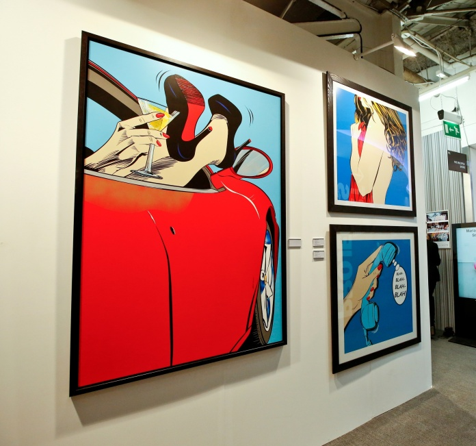 Deborah Azzopardi's work  at London Art Fair. Photo by Cristina Schek