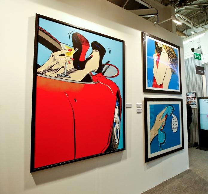 Deborah Azzopardi's work  at London Art Fair. Photo by Cristina Schek