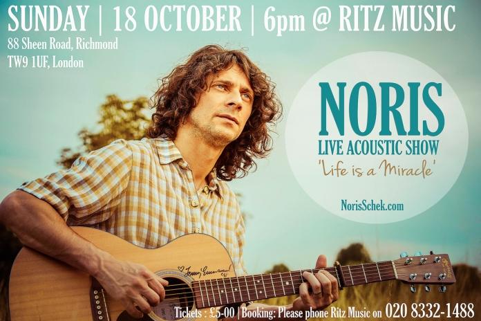 Noris Schek Acoustic Show at Ritz Music, 18 October 2015