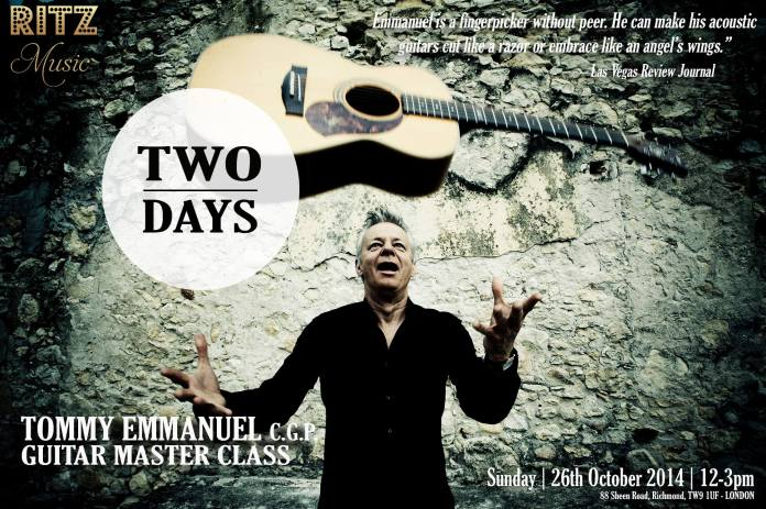 2Days, Countdown to Tommy Emmanuel Master Class in London, hosted by Ritz Music. Designed by Cristina Schek
