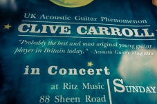 Clive Carroll Concert Poster, Ritz Music, 8Nov2015 (1)