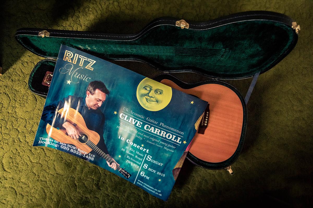 Clive Carroll Concert Poster, Ritz Music, 8Nov2015
