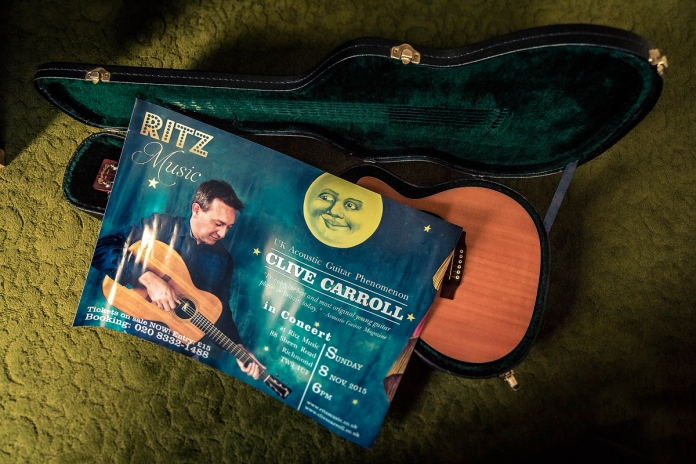 Clive Carroll Concert Poster, Ritz Music, 8Nov2015