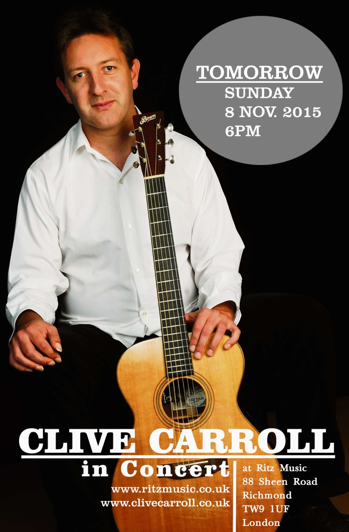 Clive Carroll in concert at Ritz Music, 8Nov2015