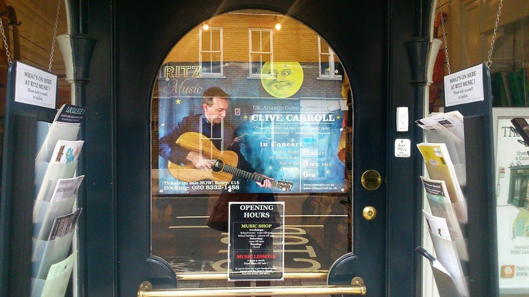Clive Carroll Poster at Ritz Music (2)