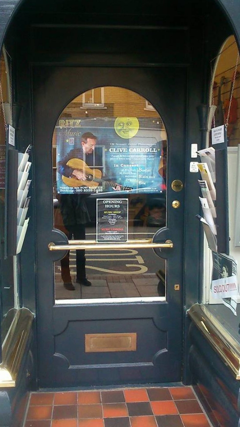 Clive Carroll Poster at Ritz Music (3)