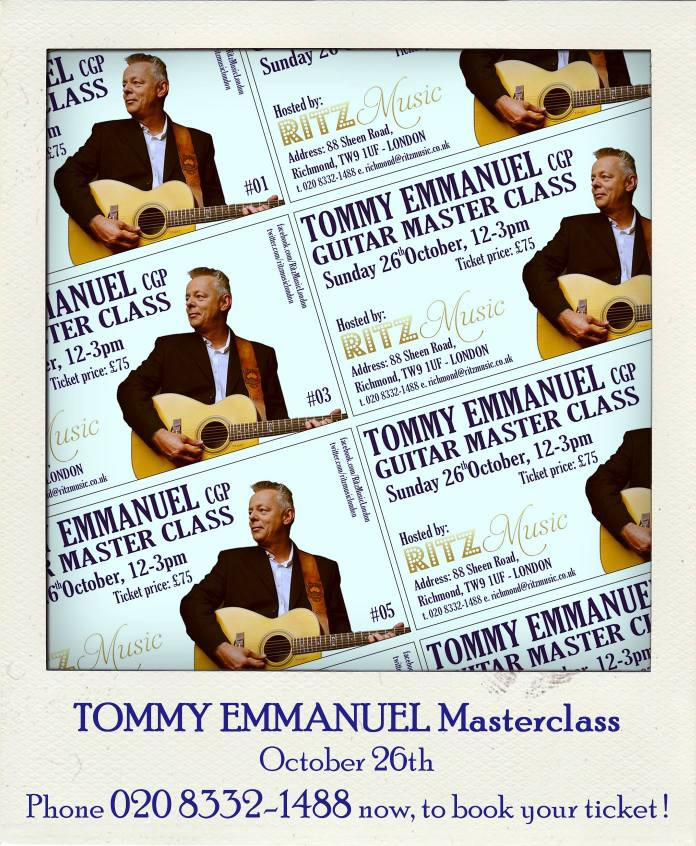 TommyEmmanuel masterclass, tickets